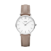 CLUSE Minuit Silver & Hazelnut Watch