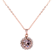Ted Baker Sela Rose Gold Crystal Daisy Necklace
