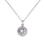 Ted Baker Sela Silver Crystal Daisy Necklace