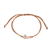 Karma Rose Gold Love Pull Bracelet