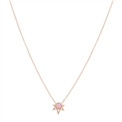 Karma Rose Gold Pink Opal Geo Necklace