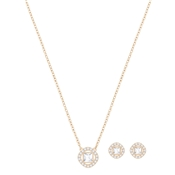 Swarovski Rose Gold Angelic Square Necklace & Earring Set