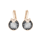 Swarovski Small Bella V Rose Gold & Grey Earrings