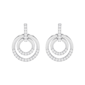 Swarovski Circle Crystal Earrings