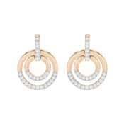 Swarovski Rose Gold Circle Crystal Earrings