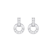 Swarovski Circle Stud Earrings