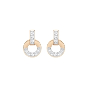 Swarovski Rose Gold Crystal Stud Earrings