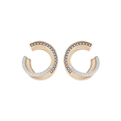 Swarovski Hero Rose Gold & Grey Hoops
