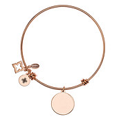 Karma Rose Gold Engraving Bangle
