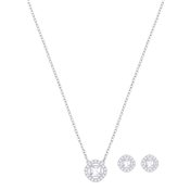 Swarovski Angelic Square Necklace & Earring Set