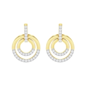 Swarovski Gold Crystal Circle Earrings