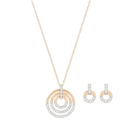 Swarovski Rose Gold Crystal Circle Set