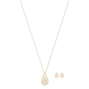 Swarovski Ginger Rose Gold Pear Set