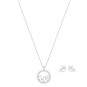 Swarovski Silver Henrietta Necklace & Earrings Set