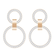 Swarovski Hollow Chandelier Rose Gold Earrings