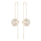 Swarovski Hollow Rose Gold Chain Earrings