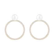 Swarovski Hoop Fever Rose Gold & Pearl Earrings