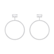 Swarovski Hoop Fever Circle Earrings