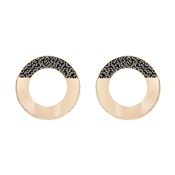Swarovski Hoop Fever Rose Gold & Black Earrings