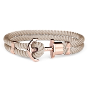 Paul Hewitt Rose Gold & Hazelnut Phrep Bracelet