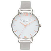 Olivia Burton Rose Gold & Silver Mesh Watch