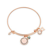 Karma August Birthstone Rose Gold Bangle