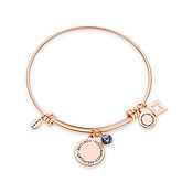 Karma December Birthstone Rose Gold Bangle