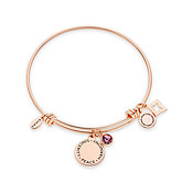 Karma February Birthstone Rose Gold Bangle