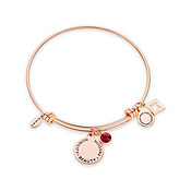 Karma July Birthstone Rose Gold Bangle
