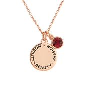 Karma July Birthstone Rose Gold Necklace