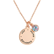 Karma June Birthstone Rose Gold Necklace