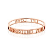 Karma Let Love Surround You Rose Gold Bangle