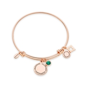 Karma May Birthstone Rose Gold Bangle
