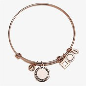 Karma November Birthstone Rose Gold Bangle