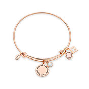 Karma October Birthstone Rose Gold Bangle