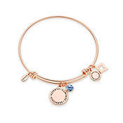Karma September Birthstone Rose Gold Bangle