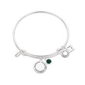 Karma May Birthstone Bangle