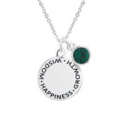 May Birthstone Necklace  by Karma
