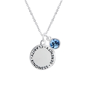 Karma September Birthstone Necklace