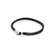 PANDORA Black Moments Fabric Cord Bracelet