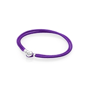 PANDORA Purple Moments Fabric Cord Bracelet