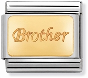 Nomination Gold Brother Charm