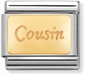 Nomination Gold Cousin Charm