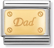 Nomination Gold Dad Charm