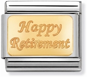 Nomination Gold Happy Retirement Charm