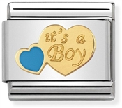 Nomination Blue It's A Boy Charm