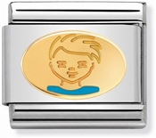 Nomination Gold Little Boy Charm