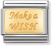 Nomination Gold Make a Wish Charm