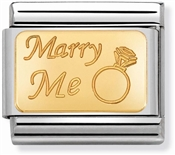 Nomination Gold Marry Me Charm