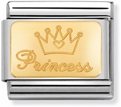 Nomination Gold Princess Charm